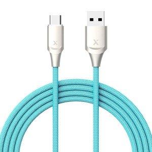 $3.99白菜价:Xcentz 3呎 USB-Type C 防断尼龙包裹 快充数据线