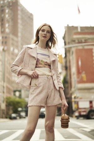 Quanta du Soleil - Jacqueline Pink Tweed Blazer SetJacket / P