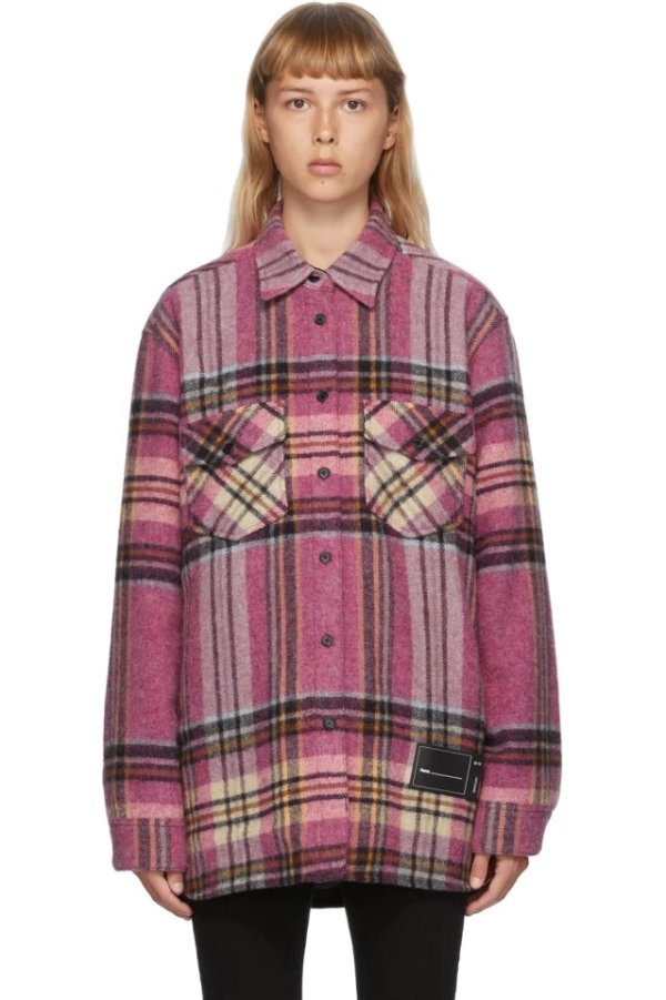 Pink Wool 格纹外套