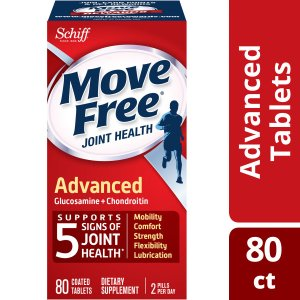 Move Free Advanced - 80 tablets - Joint Health Supplement with Glucosamine and Chondroitin - Walmart.com
