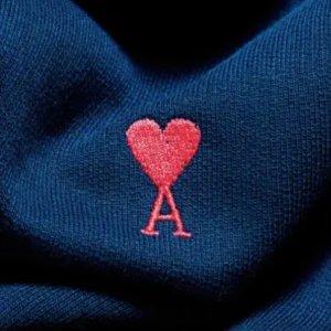 全场7折 史低€91收爱心卫衣限今天:AMI Paris 独家震撼大促 大爱心卫衣、T恤、开衫年度好价