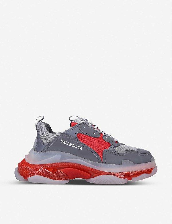 灰红男士老爹鞋