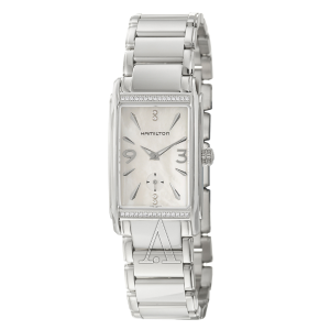 $329 (原价$1175)Hamilton Ardmore 系列镶钻珍珠母贝时装女表