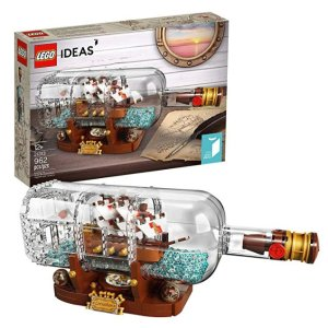 $55.99LEGO IDEAS 21313 Ship in a Bottle 962 piece set @ Amazon