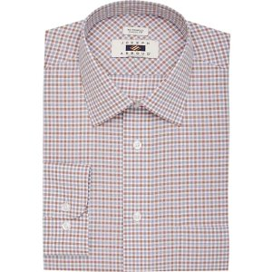 2 for $35Joseph Abboud Rust & Gray Check Classic Fit Dress Shirt - Men's Shirts | Men's Wearhouse