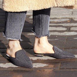 低至6折+码全 收粉丝最爱乐福鞋Nicholas Kirkwood 女士鞋履  经典尖头乐福鞋,珍珠跟