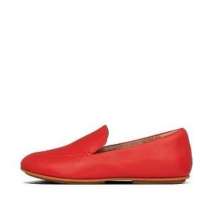 FitFlop大红色乐福鞋