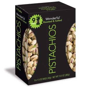 Wonderful Pistachios 盐烤开心果 1.5oz 9袋装