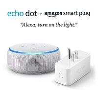 Amazon 3代 Echo Dot + Amazon 智能插座 沙石白