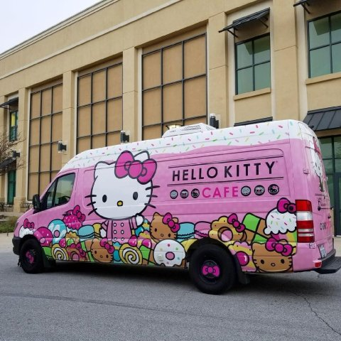 Check The Route2018 Hello Kitty Cafe Truck Was Launched