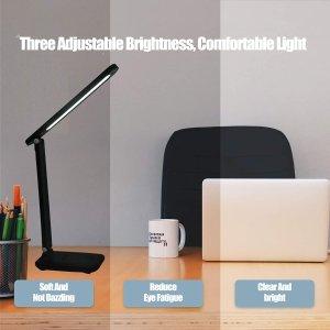 $17.59(原价$31.99)史低价:LKESBO LED 护眼台灯 9档模式 3级亮度 学习护眼神器