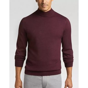 49e76c2379 Joseph AbboudWine Mock Neck Performance Sweater - Men s Sweaters