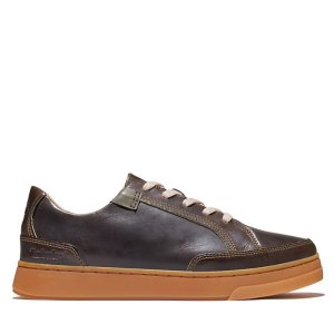 Timberland复古棕皮质板鞋