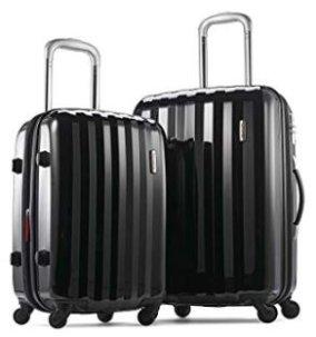 "Amazon.com | Samsonite Prism Two-Piece Hardside Spinner Set (20""/24""), Black | Luggage Sets"