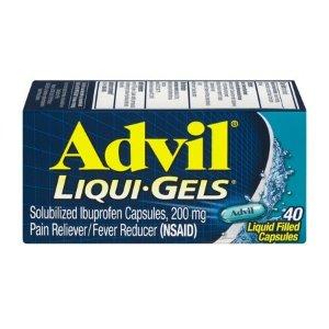 Advil 布洛芬退烧止痛胶囊,40粒