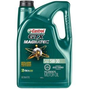 $10.30Castrol GTX MAGNATEC 5W-30 全合成机油 5夸脱