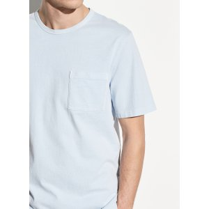 VinceGarment Dye Single Pocket Short Sleeve Crew
