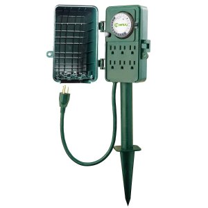 $12.64(原价$22.99)Century 24小时机械式室外插头定时器