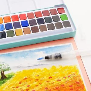 $25.87(原价$32.79)Lightwish 36色水彩盘 画幅清新解压的水彩小画呀