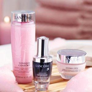 满£50送美妆礼包Lancome 彩妆、护肤品热卖 收新品粉底液、粉水