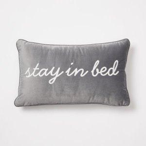 Velvet Stay In Bed Throw Pillow - Dorm Pillows | Dormify