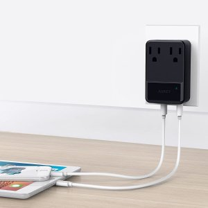 Aukey 30W USB 充电头 & 无线充电支架 特卖