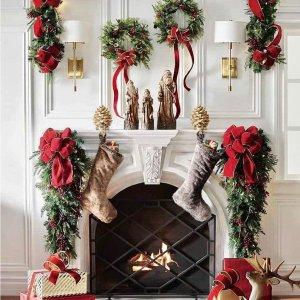 2折起 £9收浆果圣诞花环TKMAXX 圣诞节专场 节日装饰、花环礼物、床品 氛围满分