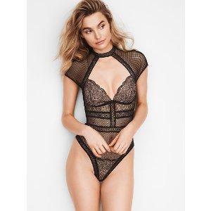 e3a7e7ecde Fishnet Lace Cap-sleeve Bodysuit - Very Sexy - Victoria s Secret