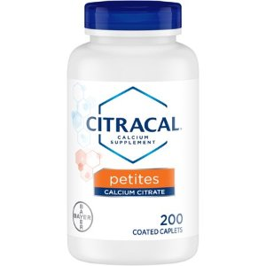 Citracal Petites, Calcium and Vitamin D3 Supplement to Support Bone Health*, 200 Easy-to-Take Caplets - Walmart.com