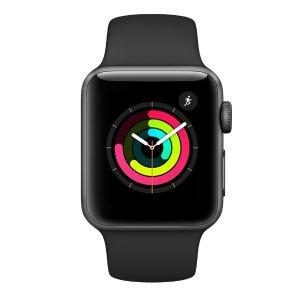 $199 包邮Apple Watch Series 3 智能手表 (GPS, 38mm) - 深空灰
