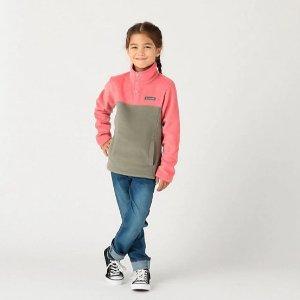 5折 + 会员包邮Columbia官网 儿童户外服饰精选促销 抓绒外套好价收