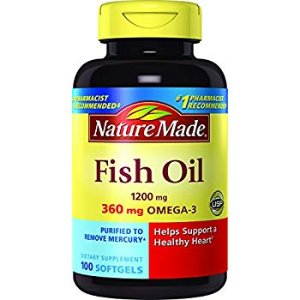 $5.69 Nature Made Fish Oil 1200 mg w. Omega-3 360 mg Softgels 100 Ct