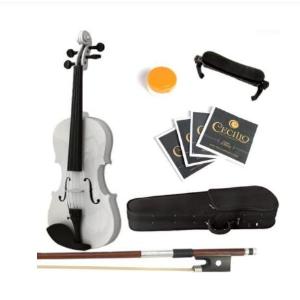 $50.68包邮史低价:Mendini 1/8 白色实木小提琴套装 适合初学儿童