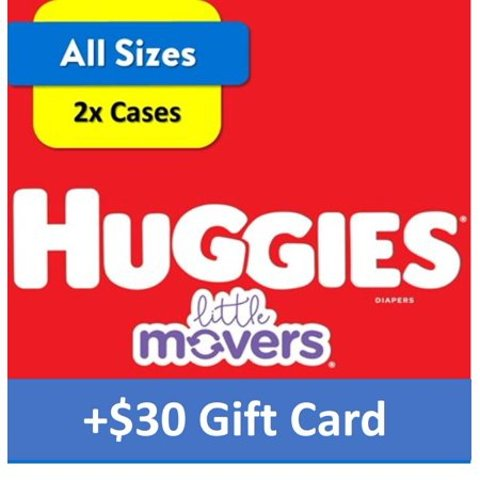Buy 2 OMS Boxes, Get Up to $30 Gift CardWalmart Pampers & Huggies Diapers Bundles, All Sizes