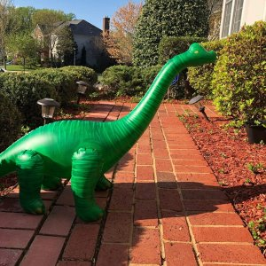 Jet Creations Inflatable Brachiosaurus Dinosaur, 48 inch Long