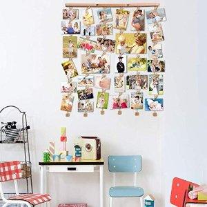 $21.99 四星好评Love-KANKEI 木质框相片墙 30张 销量冠军