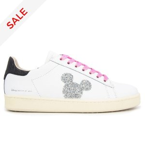 DisneyMaster of Arts Mickey Mouse White and Black Trainers for Adults