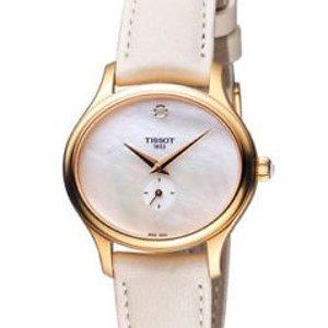 $134.99 (原价$375)史低价:TISSOT Bella 系列珍珠母贝玫瑰金色女表