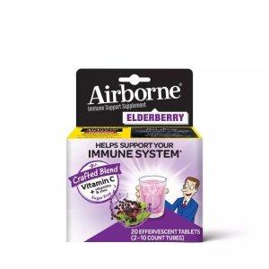 AirborneElderberry Effervescent Tablets - 20ct