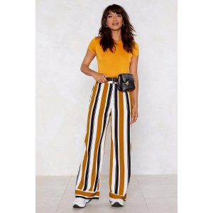 Nasty GalStripe Place Wide-Leg Pants | Shop Clothes at Nasty Gal!