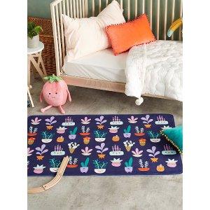 儿童房卡通地毯 80 x 120 cm
