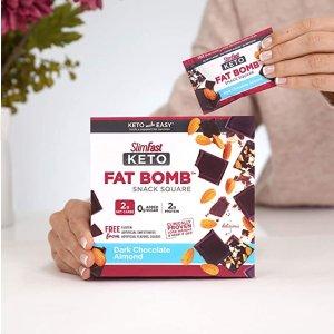 $7.57SlimFast Keto Fat Bomb 杏仁黑巧促销