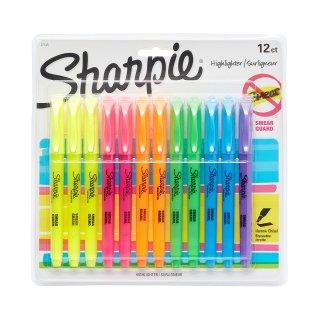 $4.97 销量冠军Sharpie 12支彩色荧光笔套装