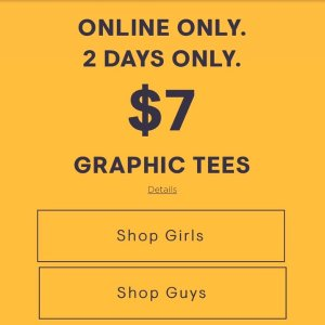 All for $7.00Aeropostale Graphic Tees 2 Days Sale