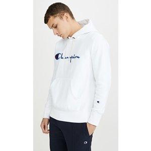 Champion Premium Reverse WeaveBig Script Logo 帽衫