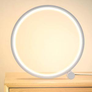 售价€25 颜值+实用性创意圆圈读书灯 亮度和光温可调节 灯光护眼不闪烁