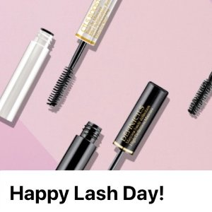 Happy lash day! Choose a mini mascarawith $49+ purchase @ Lancôme