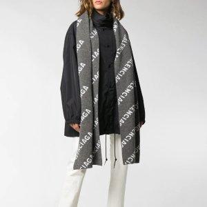 Balenciagalogo围巾