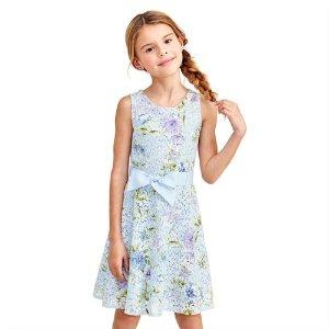 70a8c09ba0175 The Children s PlaceGirls Sleeveless Print Lace Woven Cut Out Dress