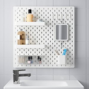 SKÅDIS Pegboard combination - white - 22x22